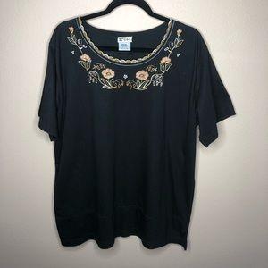 🦋3/$15 Women's Floral C.O.C Blouse Size XXXL